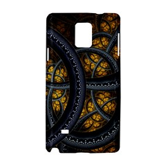 Circles Background Spots  Samsung Galaxy Note 4 Hardshell Case by amphoto