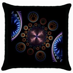 Circles Colorful Patterns  Throw Pillow Case (black) by amphoto
