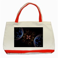 Circles Colorful Patterns  Classic Tote Bag (red) by amphoto