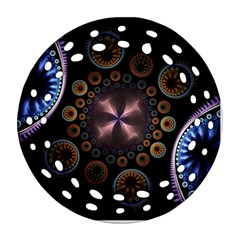Circles Colorful Patterns  Ornament (round Filigree) by amphoto