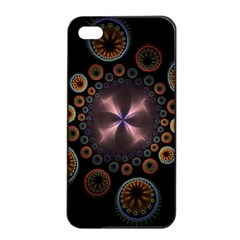 Circles Colorful Patterns  Apple Iphone 4/4s Seamless Case (black) by amphoto