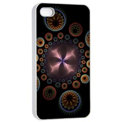 Circles Colorful Patterns  Apple Iphone 4/4s Seamless Case (white) by amphoto