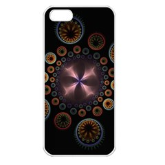 Circles Colorful Patterns  Apple Iphone 5 Seamless Case (white) by amphoto