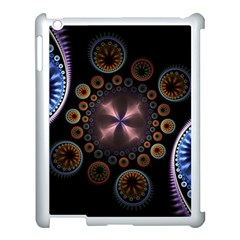 Circles Colorful Patterns  Apple Ipad 3/4 Case (white) by amphoto
