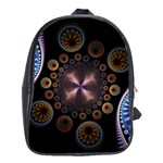 Circles Colorful Patterns  School Bag (XL) Front