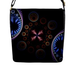 Circles Colorful Patterns  Flap Messenger Bag (l)  by amphoto