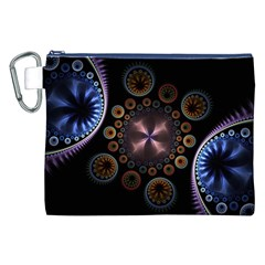 Circles Colorful Patterns  Canvas Cosmetic Bag (xxl) by amphoto