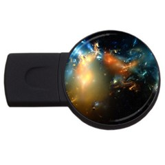 Explosion Sky Spots  Usb Flash Drive Round (4 Gb) by amphoto