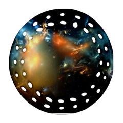 Explosion Sky Spots  Ornament (round Filigree) by amphoto