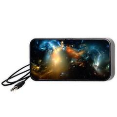 Explosion Sky Spots  Portable Speaker (black) by amphoto