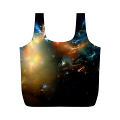 Explosion Sky Spots  Full Print Recycle Bags (m)  by amphoto