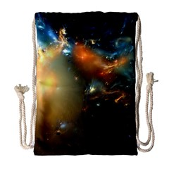 Explosion Sky Spots  Drawstring Bag (large) by amphoto