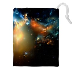 Explosion Sky Spots  Drawstring Pouches (xxl) by amphoto