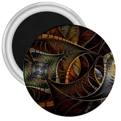 Mosaics Stained Glass Colorful  3  Magnets by amphoto