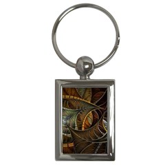 Mosaics Stained Glass Colorful  Key Chains (rectangle)  by amphoto