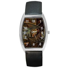 Mosaics Stained Glass Colorful  Barrel Style Metal Watch by amphoto