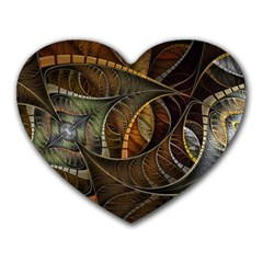 Mosaics Stained Glass Colorful  Heart Mousepads by amphoto