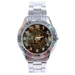 Mosaics Stained Glass Colorful  Stainless Steel Analogue Watch by amphoto