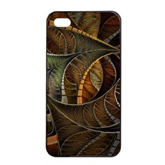 Mosaics Stained Glass Colorful  Apple Iphone 4/4s Seamless Case (black) by amphoto