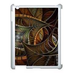 Mosaics Stained Glass Colorful  Apple Ipad 3/4 Case (white) by amphoto