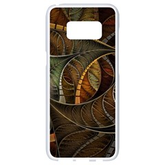 Mosaics Stained Glass Colorful  Samsung Galaxy S8 White Seamless Case by amphoto