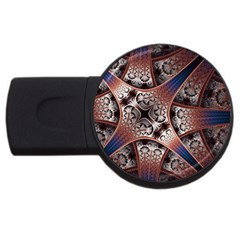 Lines Patterns Background  Usb Flash Drive Round (2 Gb) by amphoto