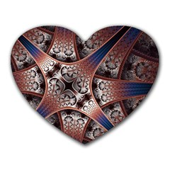 Lines Patterns Background  Heart Mousepads by amphoto