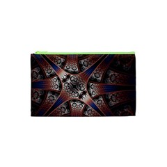 Lines Patterns Background  Cosmetic Bag (xs) by amphoto