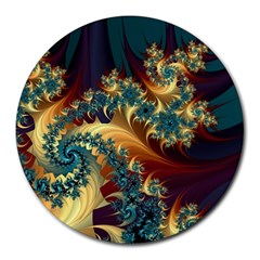 Patterns Paint Ice  Round Mousepads by amphoto