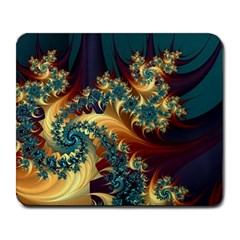 Patterns Paint Ice  Large Mousepads by amphoto