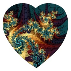 Patterns Paint Ice  Jigsaw Puzzle (heart) by amphoto