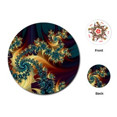 Patterns Paint Ice  Playing Cards (round)  by amphoto