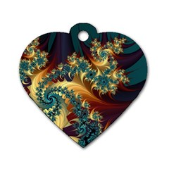 Patterns Paint Ice  Dog Tag Heart (one Side) by amphoto