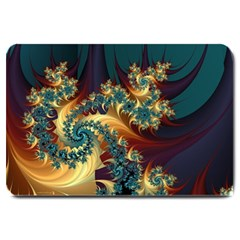 Patterns Paint Ice  Large Doormat  by amphoto
