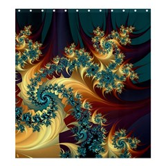 Patterns Paint Ice  Shower Curtain 66  X 72  (large)  by amphoto