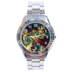 Patterns Paint Ice  Stainless Steel Analogue Watch by amphoto