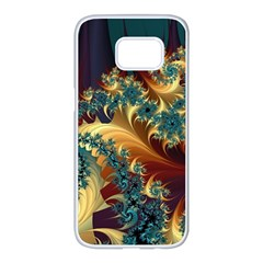 Patterns Paint Ice  Samsung Galaxy S7 Edge White Seamless Case by amphoto