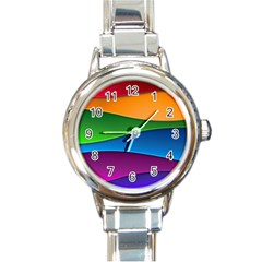 Layers Light Bright  Round Italian Charm Watch by amphoto