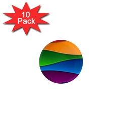 Layers Light Bright  1  Mini Magnet (10 Pack)  by amphoto