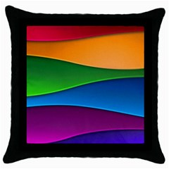 Layers Light Bright  Throw Pillow Case (black) by amphoto
