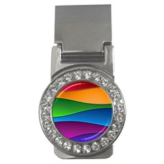 Layers Light Bright  Money Clips (cz)  by amphoto