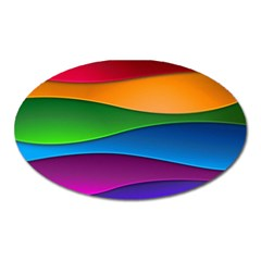 Layers Light Bright  Oval Magnet by amphoto