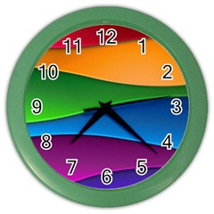 Layers Light Bright  Color Wall Clocks by amphoto
