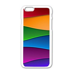 Layers Light Bright  Apple Iphone 6/6s White Enamel Case by amphoto
