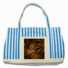 Patterns Background Dark  Striped Blue Tote Bag by amphoto