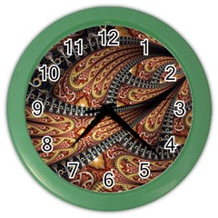 Patterns Background Dark  Color Wall Clocks by amphoto