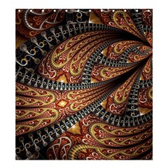 Patterns Background Dark  Shower Curtain 66  X 72  (large)  by amphoto