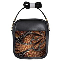 Patterns Background Dark  Girls Sling Bags by amphoto