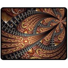 Patterns Background Dark  Fleece Blanket (medium)  by amphoto