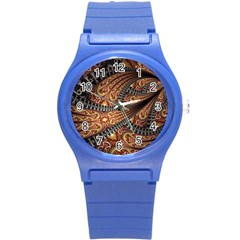 Patterns Background Dark  Round Plastic Sport Watch (s) by amphoto